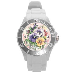 Lowers Pansy Round Plastic Sport Watch (l)