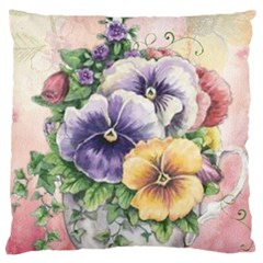 Lowers Pansy Large Cushion Case (one Side)