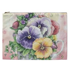 Lowers Pansy Cosmetic Bag (xxl)