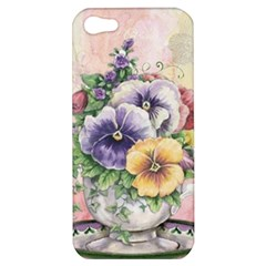 Lowers Pansy Apple Iphone 5 Hardshell Case