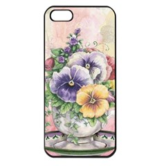Lowers Pansy Apple Iphone 5 Seamless Case (black)