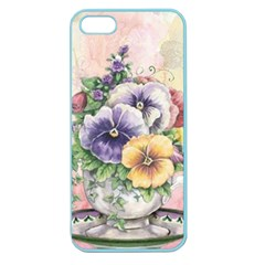 Lowers Pansy Apple Seamless Iphone 5 Case (color)