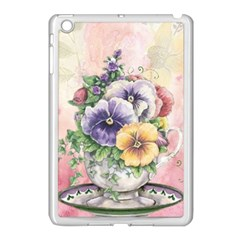 Lowers Pansy Apple Ipad Mini Case (white) by vintage2030
