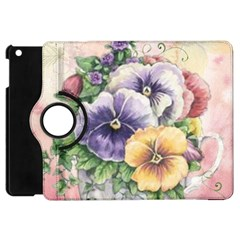 Lowers Pansy Apple Ipad Mini Flip 360 Case