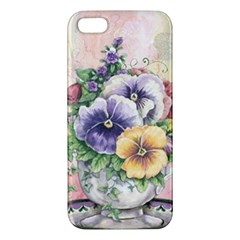 Lowers Pansy Apple Iphone 5 Premium Hardshell Case