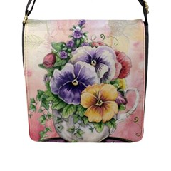 Lowers Pansy Flap Closure Messenger Bag (l)