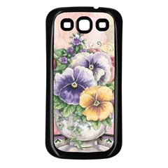 Lowers Pansy Samsung Galaxy S3 Back Case (black)