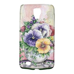 Lowers Pansy Samsung Galaxy S4 Active (i9295) Hardshell Case by vintage2030