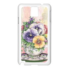 Lowers Pansy Samsung Galaxy Note 3 N9005 Case (white)