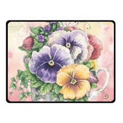 Lowers Pansy Double Sided Fleece Blanket (small)