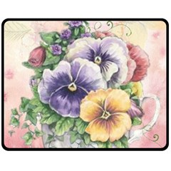 Lowers Pansy Double Sided Fleece Blanket (medium)