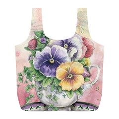 Lowers Pansy Full Print Recycle Bag (l)