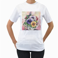 Lowers Pansy Women s T Shirt (white)