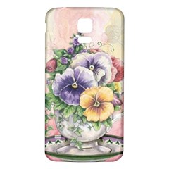 Lowers Pansy Samsung Galaxy S5 Back Case (white)