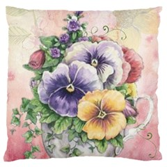 Lowers Pansy Standard Flano Cushion Case (one Side) by vintage2030