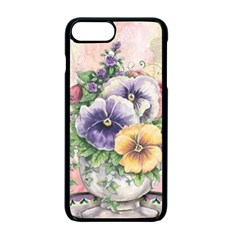 Lowers Pansy Apple Iphone 7 Plus Seamless Case (black)