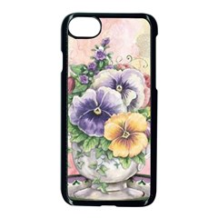 Lowers Pansy Apple Iphone 7 Seamless Case (black) by vintage2030