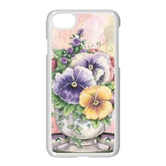 Lowers Pansy Apple Iphone 7 Seamless Case (white)