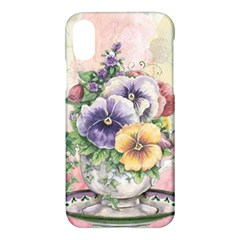 Lowers Pansy Apple Iphone X Hardshell Case