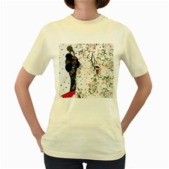 Background 1426655 1920 Women s Yellow T Shirt