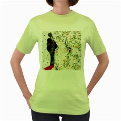 Background 1426655 1920 Women s Green T Shirt