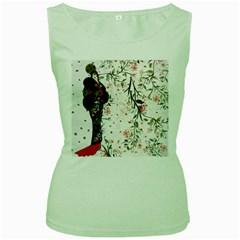 Background 1426655 1920 Women s Green Tank Top
