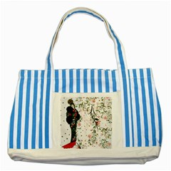 Background 1426655 1920 Striped Blue Tote Bag