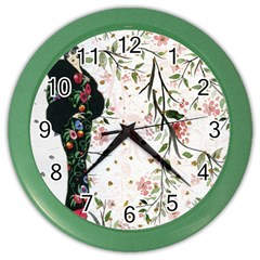 Background 1426655 1920 Color Wall Clock