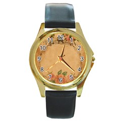 Background 1365750 1920 Round Gold Metal Watch by vintage2030
