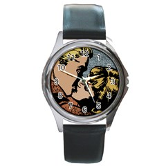 Kiss Kiss Round Metal Watch by vintage2030