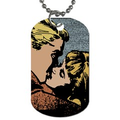 Kiss Kiss Dog Tag (two Sides) by vintage2030
