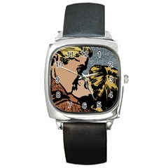 Kiss Kiss Square Metal Watch by vintage2030