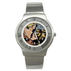 Kiss Kiss Stainless Steel Watch by vintage2030