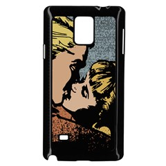 Kiss Kiss Samsung Galaxy Note 4 Case (black) by vintage2030