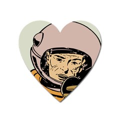 Astronaut Retro Heart Magnet by vintage2030