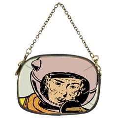 Astronaut Retro Chain Purse (two Sides) by vintage2030
