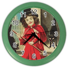 Haloweencard3 Color Wall Clock