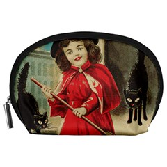 Haloweencard3 Accessory Pouch (large) by vintage2030
