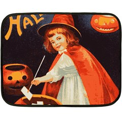 Haloweencard2 Double Sided Fleece Blanket (mini)  by vintage2030