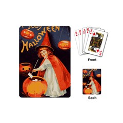 Haloweencard2 Playing Cards (mini)  by vintage2030