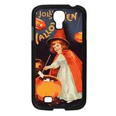 Haloweencard2 Samsung Galaxy S4 I9500/ I9505 Case (black) by vintage2030