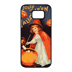 Haloweencard2 Samsung Galaxy S7 Edge Black Seamless Case by vintage2030