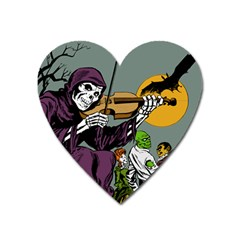 Playing Skeleton Heart Magnet by vintage2030