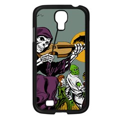 Playing Skeleton Samsung Galaxy S4 I9500/ I9505 Case (black) by vintage2030