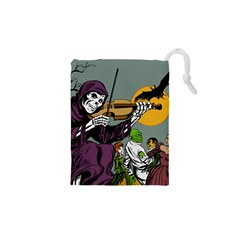 Playing Skeleton Drawstring Pouch (xs)