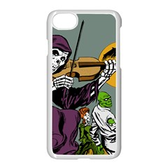 Playing Skeleton Apple Iphone 7 Seamless Case (white)