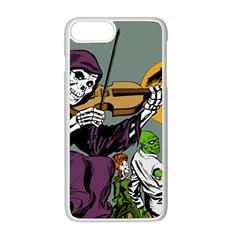 Playing Skeleton Apple Iphone 8 Plus Seamless Case (white)