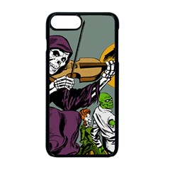 Playing Skeleton Apple Iphone 8 Plus Seamless Case (black)
