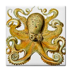 Gold Octopus Tile Coasters