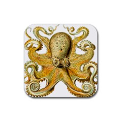 Gold Octopus Rubber Coaster (square)
